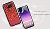 DZGOGO Samsung Galaxy S8 Plus Işıltılı Kırmızı Deri Kılıf - Resim 4