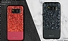 DZGOGO Samsung Galaxy S8 Plus Işıltılı Kırmızı Deri Kılıf - Resim 7