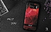 DZGOGO Samsung Galaxy S8 Plus Silikon Kenarlı Kırmızı Rubber Kılıf - Resim 1