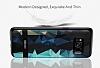 DZGOGO Samsung Galaxy S8 Plus Silikon Kenarlı Mavi Rubber Kılıf - Resim 11