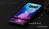 DZGOGO Samsung Galaxy S8 Silikon Kenarlı Mavi Rubber Kılıf - Resim 6