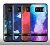 DZGOGO Samsung Galaxy S8 Silikon Kenarlı Mavi Rubber Kılıf - Resim 11