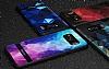 DZGOGO Samsung Galaxy S8 Silikon Kenarlı Mavi Rubber Kılıf - Resim 9