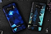 DZGOGO Samsung Galaxy S8 Silikon Kenarlı Mavi Rubber Kılıf - Resim 7