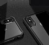 Eiroo Bumper Hybrid iPhone 6 / 6S / 7 / 8 Gold Kenarlı Şeffaf Rubber Kılıf - Resim 1