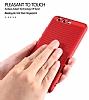 Eiroo Air To Dot Huawei P9 Delikli Kırmızı Rubber Kılıf - Resim 4