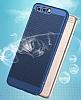Eiroo Air To Dot Huawei P9 Delikli Lacivert Rubber Kılıf - Resim 1