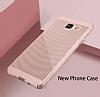 Eiroo Air To Dot Samsung Galaxy A5 2016 Delikli Rose Gold Rubber Kılıf - Resim 5