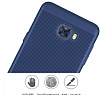 Eiroo Air to Dot Samsung Galaxy C5 Pro Delikli Mor Rubber Kılıf - Resim 3
