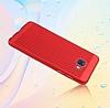 Eiroo Air To Dot Samsung Galaxy C9 Pro Delikli Kırmızı Rubber Kılıf - Resim 1