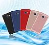 Eiroo Air To Dot Samsung Galaxy C9 Pro Delikli Kırmızı Rubber Kılıf - Resim 5