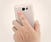 Eiroo Air To Dot Samsung Galaxy J3 2017 Delikli Silver Rubber Kılıf - Resim 2