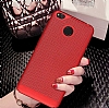 Eiroo Air To Dot Samsung Galaxy J7 Max Delikli Kırmızı Rubber Kılıf - Resim 1
