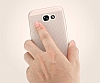 Eiroo Air To Dot Samsung Galaxy J7 Pro 2017 Delikli Rose Gold Rubber Kılıf - Resim 2