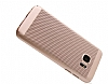 Eiroo Air To Dot Samsung Galaxy S7 Delikli Rose Gold Rubber Kılıf - Resim 3
