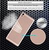 Eiroo Air To Dot Sony Xperia XA1 Delikli Rose Gold Rubber Kılıf - Resim 2