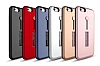 Eiroo Alloy Fit iPhone 6 / 6S Selfie Yüzüklü Kırmızı Metal Kılıf - Resim 1
