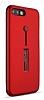 Eiroo Alloy Fit iPhone 7 Plus / 8 Plus Selfie Yüzüklü Kırmızı Metal Kılıf - Resim 7