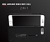 Eiroo Alloy Fit iPhone 7 Plus / 8 Plus Selfie Yüzüklü Siyah Metal Kılıf - Resim 4