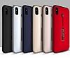 Eiroo Alloy Fit iPhone X Selfie Yüzüklü Metal Kırmızı Kılıf - Resim 3