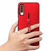 Eiroo Alloy Fit Samsung Galaxy A7 2018 Selfie Yüzüklü Siyah Kılıf - Resim 2