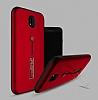 Eiroo Alloy Fit Samsung Galaxy J5 Pro 2017 Selfie Yüzüklü Kırmızı Metal Kılıf - Resim 1