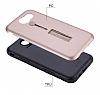 Eiroo Alloy Fit Samsung Galaxy J7 Prime Selfie Yüzüklü Silver Metal Kılıf - Resim 1