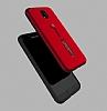Eiroo Alloy Fit Samsung Galaxy J7 Pro 2017 Selfie Yüzüklü Kırmızı Metal Kılıf - Resim 4