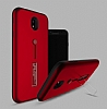 Eiroo Alloy Fit Samsung Galaxy J7 Pro 2017 Selfie Yüzüklü Kırmızı Metal Kılıf - Resim 1