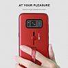 Eiroo Alloy Fit Samsung Galaxy S7 Edge Selfie Yüzüklü Silver Metal Kılıf - Resim 4