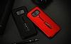 Eiroo Alloy Fit Samsung Galaxy S8 Plus Selfie Yüzüklü Siyah Metal Kılıf - Resim 10