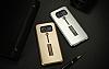 Eiroo Alloy Fit Samsung Galaxy S8 Plus Selfie Yüzüklü Siyah Metal Kılıf - Resim 8