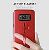 Eiroo Alloy Fit Samsung Galaxy S8 Plus Selfie Yüzüklü Siyah Metal Kılıf - Resim 4