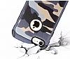 Eiroo Army iPhone 6 Plus / 6S Plus Ultra Koruma Lacivert Kılıf - Resim 1