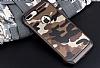 Eiroo Army iPhone 7 Plus Ultra Koruma Kahverengi Kılıf - Resim 6