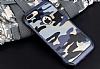 Eiroo Army iPhone 7 Plus Ultra Koruma Lacivert Kılıf - Resim 1
