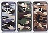 Eiroo Army iPhone 7 Plus / 8 Plus Ultra Koruma Kahverengi Kılıf - Resim 5