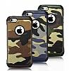 Eiroo Army iPhone SE / 5 / 5S Ultra Koruma Kahverengi Kılıf - Resim 3