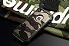 Eiroo Army iPhone SE / 5 / 5S Ultra Koruma Yeşil Kılıf - Resim 3