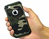 Eiroo Army iPhone SE / 5 / 5S Ultra Koruma Kahverengi Kılıf - Resim 2