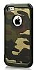 Eiroo Army iPhone SE / 5 / 5S Ultra Koruma Yeşil Kılıf - Resim 4