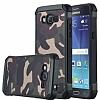 Eiroo Army Samsung Galaxy J3 Ultra Koruma Kahverengi Kılıf - Resim 2