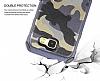 Eiroo Army Samsung Galaxy J7 2017 Ultra Koruma Kahverengi Kılıf - Resim 5