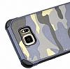 Eiroo Army Samsung Galaxy Note 5 Ultra Koruma Yeşil Kılıf - Resim 1
