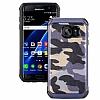 Eiroo Army Samsung Galaxy S7 Edge Ultra Koruma Lacivert Kılıf - Resim 8
