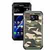 Eiroo Army Samsung Galaxy S7 Edge Ultra Koruma Yeşil Kılıf - Resim 4