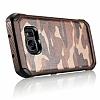 Eiroo Army Samsung Galaxy S7 Edge Ultra Koruma Kahverengi Kılıf - Resim 4
