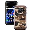 Eiroo Army Samsung Galaxy S7 Edge Ultra Koruma Kahverengi Kılıf - Resim 5