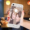 Eiroo Bling Mirror iPhone 6 Plus / 6S Plus Silikon Kenarlı Aynalı Rose Gold Rubber Kılıf - Resim 4