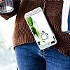 Eiroo Bling Mirror iPhone 7 Plus / 8 Plus Silikon Kenarlı Aynalı Silver Rubber Kılıf - Resim 6